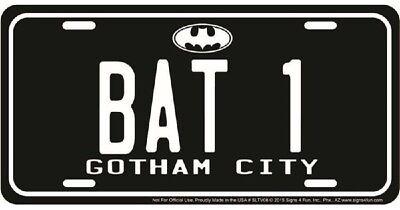 BAT 1 GOTHAM CITY BATMAN EMBOSSED METAL NOVELTY LICENSE PLATE TAG](City Novelties)