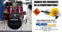 *RABAIS VACANCES CONSTRUCTION* Batterie Drum Ludwig Accent CS
