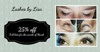 25% OFF Full Sets of Lash Extensions!