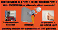 Generator Links Don't Be Left In The Dark In A Power Outage!
