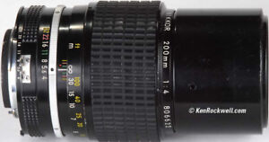 Nikkor200 f4 mint condition