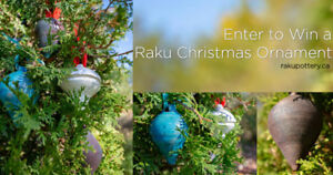 Handmade Ceramic Raku Christmas Ornament for you!