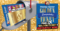 The Money Saver Golden Ticket Sweepstakes Is Here!