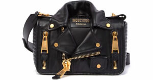 Brand New Authentic MOSCHINO Leather Jacket Shoulder Bag.
