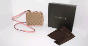 AUTHENTIC GUCCI PINK GG CANVAS CROSSBODY WITH BOX
