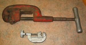 Lot de 2 Coupe Tuyau/Pipe Cutter Ridgid (Gros) Excellent (Petit)