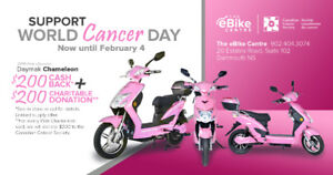 Support World Cancer Day & have fun with a new scooter