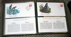 Stamps - 1978 Birds and Flowers of Canada LE 12 Cache FDC Set