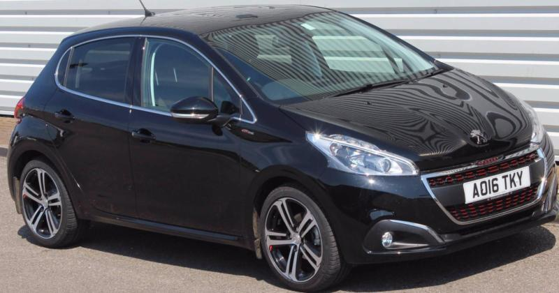 peugeot 208 gt line 1 2 petrol manual 5 door black 2016 in saxmundham suffolk gumtree. Black Bedroom Furniture Sets. Home Design Ideas