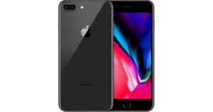 iPhone 8 Plus, 256GB, Space Grey, In box with apple accessories