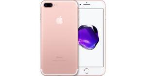 iPhone 7 Plus 256GB Unlocked (Rose Gold), $800