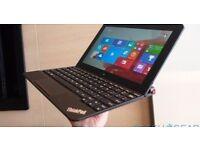Lenovo ThinkPad 10 Laptop Intel Atom Quad Core, 64GB eMMC (like SSD), TouchScreen, mint
