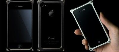 Abee Aluminum Jacket For iPhone 4 Kind 03 Black and Silver
