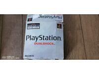 Boxed PlayStation Dual Shock, 3 games, 2 Controllers, 2mb Memory Card
