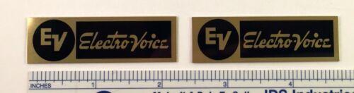 EV Electro-Voice ElectroVoice Speaker Badge Logo Emblem PAIR GOLD