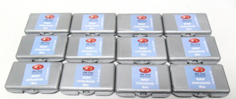 NEW ORTHODONTIC WAX FOR BRACES GUM DENTAL IRRITATION RELIEF 12 PACKS NO FLAVOR