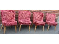 set of four matching gentleman club chairs chesterfield style good restoration project