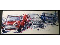 Mini cars canvas