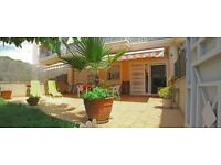 ESCAPE THE COLD WINTERS! GARDEN-TERRACE FLAT BY GLORIOUS BEACH 45KMS FROM BARCELONA