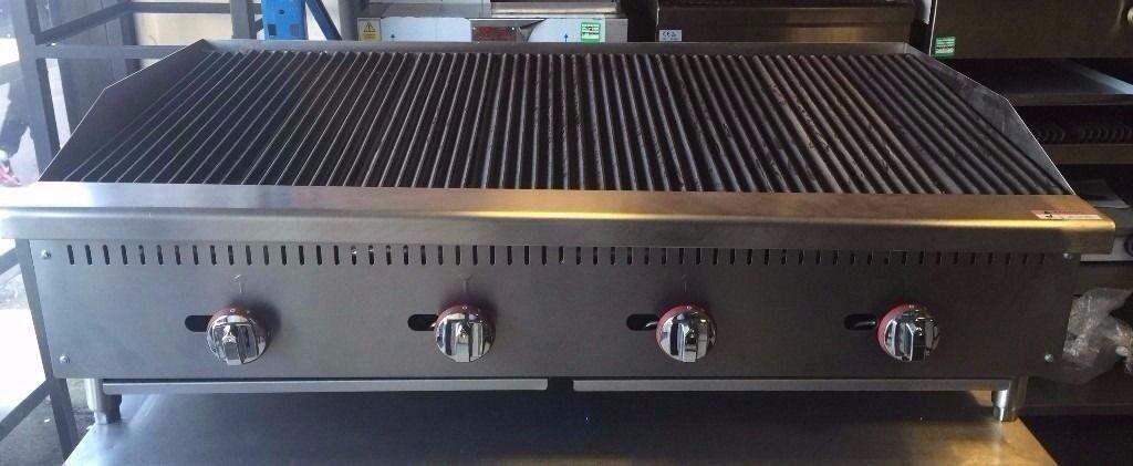PERRI PERI GRILL Char Broiler 4 Burner Char Grill 1210mm New
