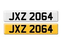 JXZ 2064 (JACK, JACQUELINE) Private car registration number / plate.