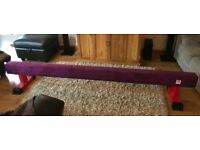 8ft fig style gymnastic beam by gym factor