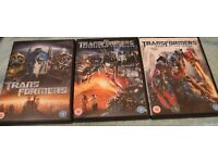 3 off Transformers DVD's
