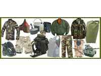 BRITISH ARMY SURPLUS CLOTHING AND EQUIPTMENT FOR SALE - BOOTS, GORETEX, BIVI BAGS THE LIST GOES ON!
