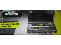 65 piece socket tool set brand new