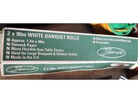 Banqueting roll - paper tablecloth on a roll Brand new