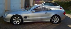MERCEDES SL 500 2003 SILVER FSH 46K VERY GOOD CONDITION LT GREY LEATHER