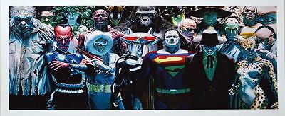 JUSTICE VILLAINS PRINT Alex Ross art Grundy Bizarro Grodd Joker Cheetah Ivy
