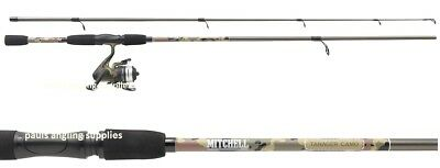 Mitchell Tanager Camo Pattern 9ft Spinning Fishing Rod  & Reel with Line 1446410