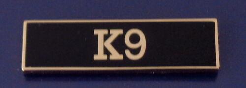 K9 Gold on Black Award/Commendation/Uniform Bar police/sheriff caniine