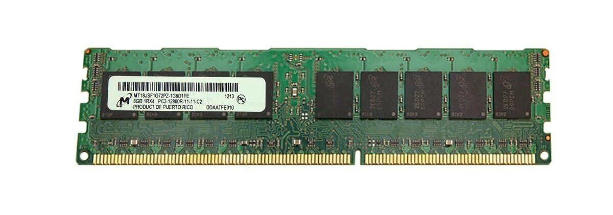 Micron PC3-12800R 16GB 2Rx4 DDR3 Server Memory MT36JSF2G72PZ-1G6E1LG