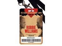 2 Collector Tickets- standing- for Robbie Williams Concert on 23th june in London