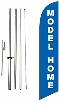 Model Home Feather Banner Swooper Flag Kit, Includes 15 Foot Flag Pole and... Home Flag Kit
