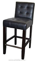 3 Black or White Low Back Tufted Leather Bar Counter Stool Sale