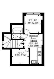 2 bedroom flat on Melrose Gardens, W6, £280