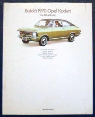 'BUICKS' OPEL KADETT BROCHURE - INC RALLEYE 1970 (USA).