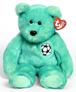 Kicks the Soccer Bear Ty Beanie Buddy stuffed animal