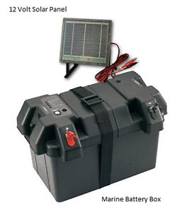 Marine Power Station Smart Battery Box W Solar Panel