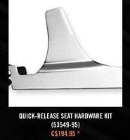 AS NEW HARLEY DAVIDSON QCK-RELEASE SEAT BRACKETS ALL SOFTTAILS