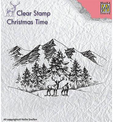 Motivstempel Clearstamp Winterlandscape Winterlandschaft Nellie Snellen CT018