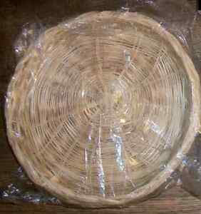 NEW VINTAGE Wicker Natural Color Paper Plate Holders - Set of 4