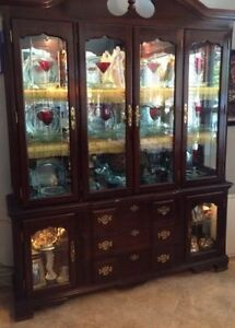 Price Reduced! China Cabinet and Hutch/Buffet