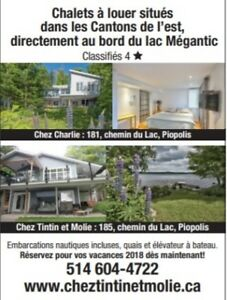 Waterfront cottage all included Megantic Lake