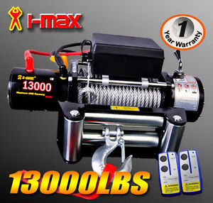 12V 13000LBS/5897KGS Wireless Steel Wire Cable Electric Winch 4WD ATV BOAT TRUCK