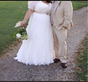 Ivory wedding gown- plus size