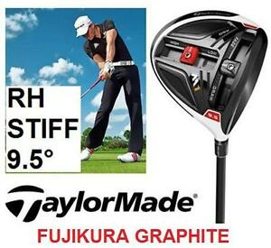 NEW TAYLORMADE MEN'S GOLF DRIVER RIGHT HAND - FUJIKURA GRAPHITE - STIFF FLEX - 9.5 DEGREE - SPORTS CLUB OUTDOOR